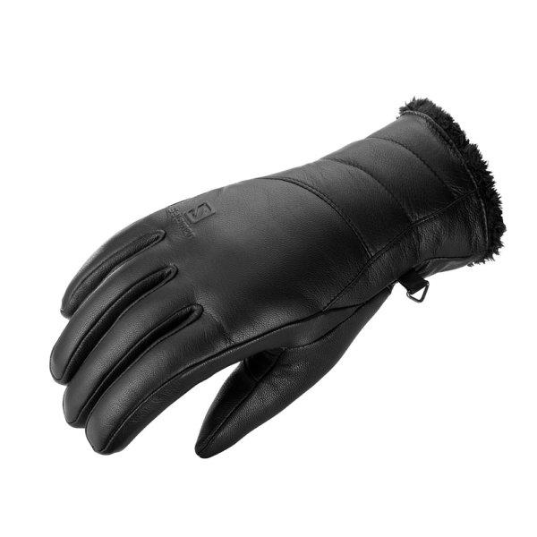 Smucarske-rokavice-Salomon-Native-W-crne