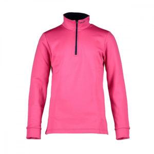 Puli-Mico-Maglia-12-Collo-Zip-Kids-Jumper-Pink