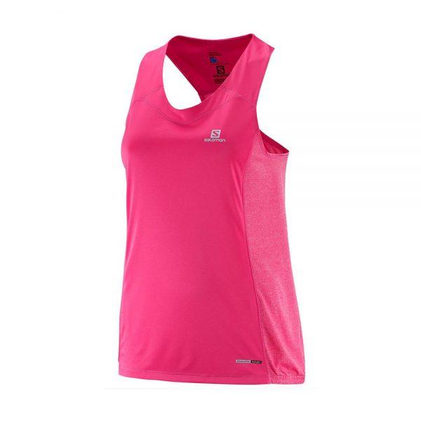 Salomon-Agile-Tank-W-Pink