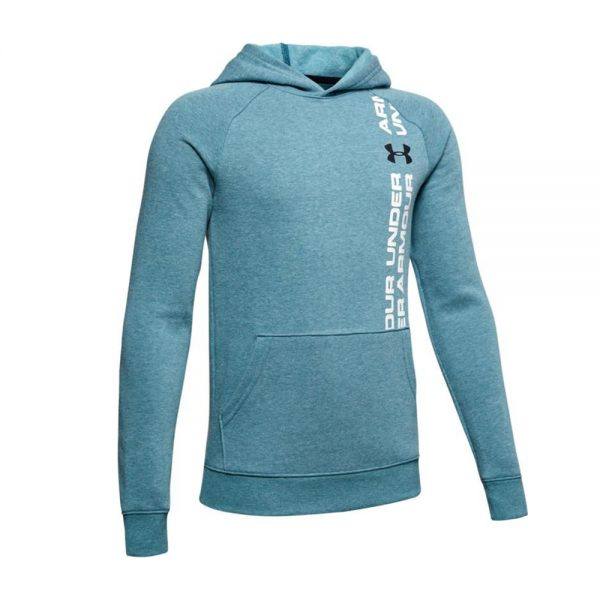 Under-Armour-Rival-Wordmark-Hoody-Grn-1345231-417