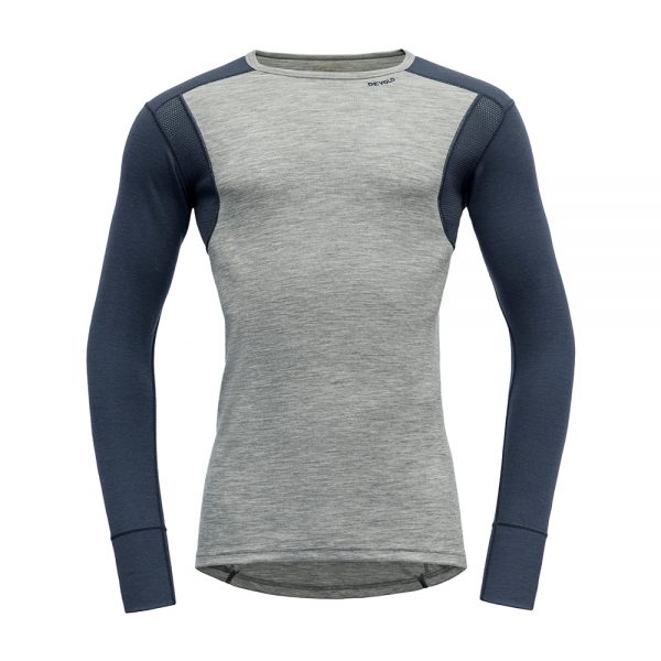 Majica-Devold-Hiking-Man-Shirt-Grey-MelangeNight